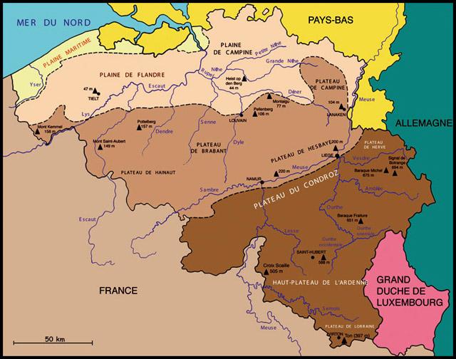 Belgique montagnes carte for Le comptoir du meuble bruxelles