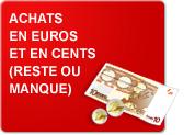 Achats en euros et en cents - Reste ou manque (Exercices)