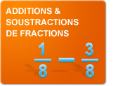 Additions et soustractions de fractions (Exercices)