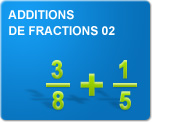 Additions de fractions 02 (Exercices)