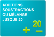 Additions, soustractions ou mélange jusque 20 (Exercices)