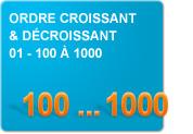 Ordre croissant et décroissant 01 - 100 à 1000 (Exercices)