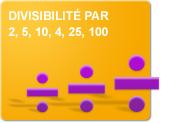 Divisibilité par 2, 5, 10, 4, 25, 100 (Exercices)