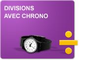 Divisions avec chrono (Exercices)