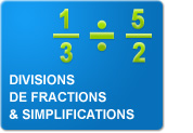 Divisions de fractions & simplifications (Exercices)