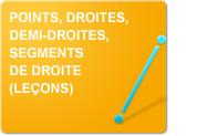 Points, droites, demi-droites, segments de droite (Leçons)