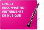 Lire et reconnaître : Instruments de musique (Exercices)