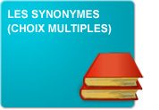 Les synonymes (Exercices 2 - Choix multiples)