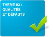Thème 03 : Qualités et défauts (Exercices)