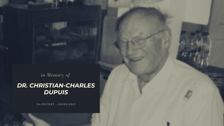 Dr. Christian-Charles Dupuis is overleden