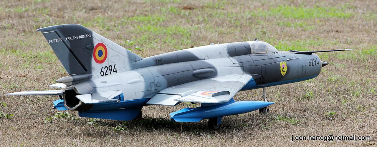 Motion RC Freewing Mig-21 Silver 80mm EDF