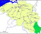 Carte Belgique: hydrographique