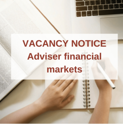Vacancy notice : Adviser financial markets