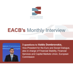 EACB's Monthly Interview - 3 questions to Valdis Dombrovskis