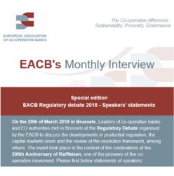 EACB Newsletter N°10 - Regulatory debate Speakers' statements