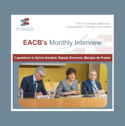 EACB Newsletter - Interview of Sylvie Goulard, Deputy Governor, Banque de France