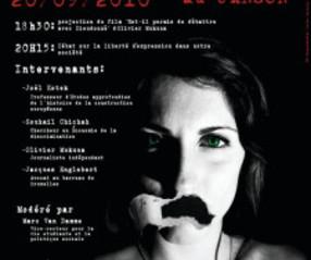 Débat sur la liberté d'expression organisé par le Cercle du Libre Examen de l'ULB