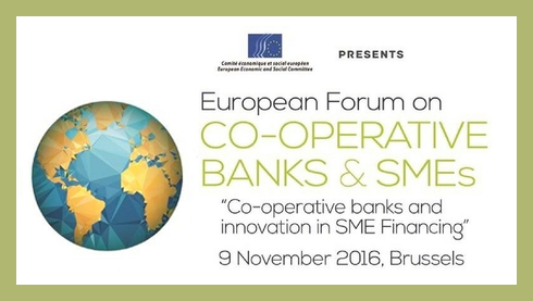 [REGISTER NOW] European Forum on Co-operative Banks & SMEs, 9 November - Brussels