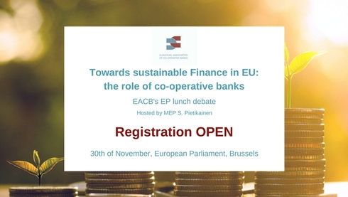 "EACB EP Lunch Debate ""Towards sustainable Finance in EU: the role of co-operative banks"""
