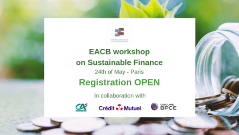 EACB workshop on Sustainable Finance