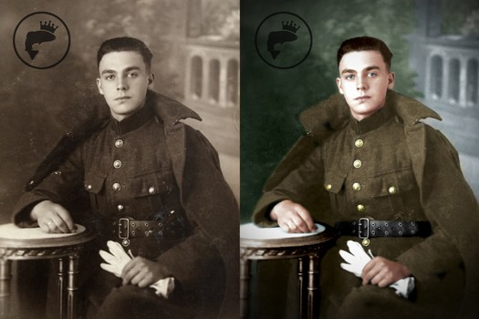 Restoration and coloring of old pictures