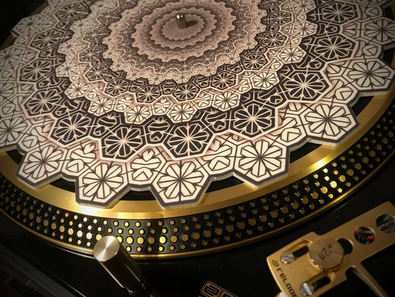 Zoetrope turntable Slipmat  - Geometric Cogwheel