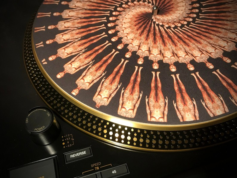Zoetrope Turntable Slipmat  -Tattoo Clone Black