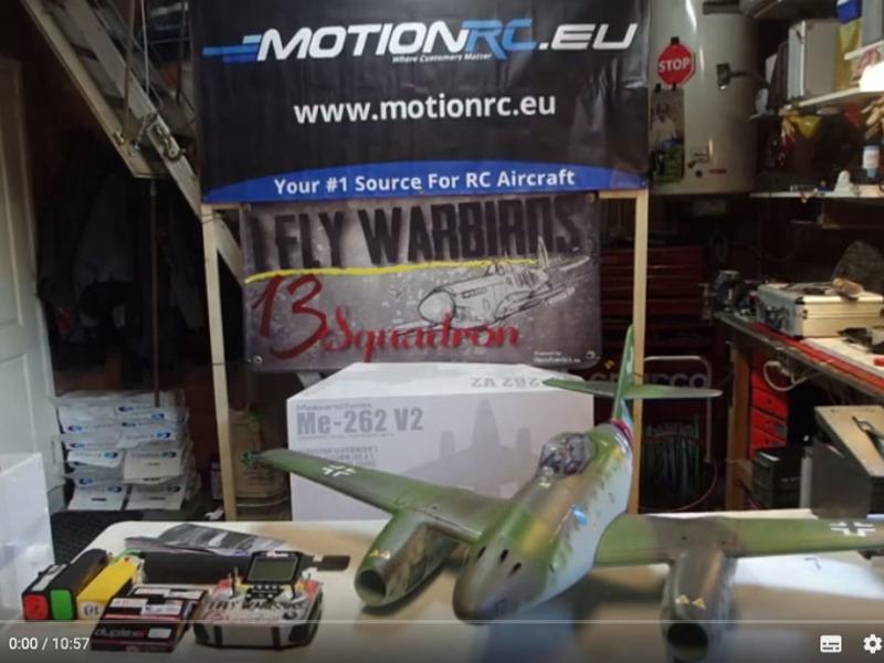 MotionRC-Freewing ME 262 Eerste indrukken