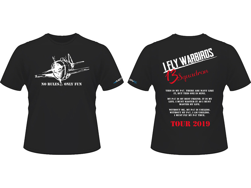 "Heb je al je ""13 Squadron"" t-shirt?"
