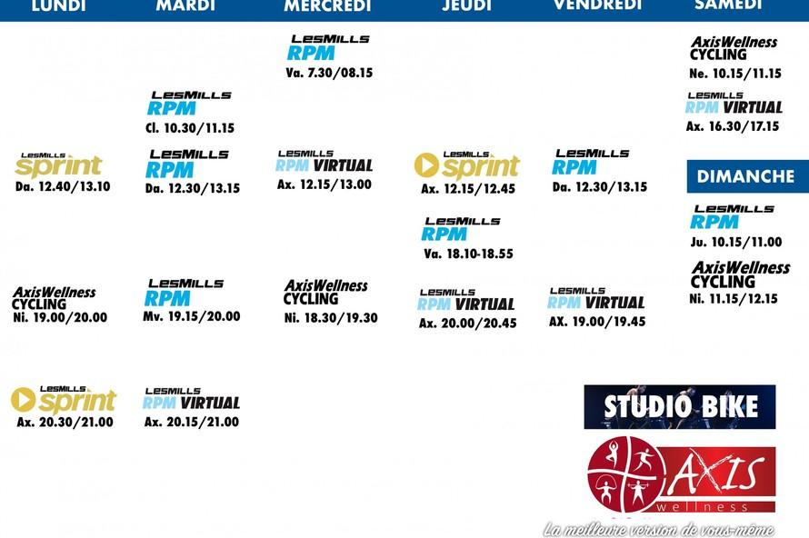 Les horaires de cours