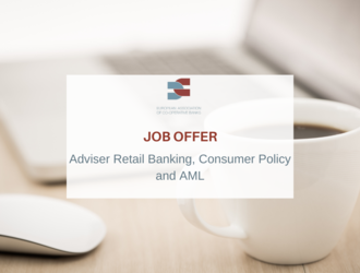 Job offer - Adviser Retail Banking, Consumer Policy and AML