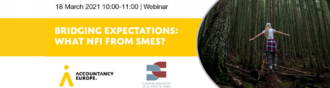 "Webinar ""Bridging expectations: what NFI from SMEs?"" 18th March"
