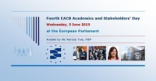Fourth EACB Academics and Stakeholders' Day on 3 June at the European Parliament