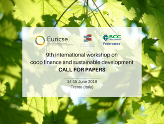 9th International workshop on cooperative finance and sustainable development - Trento (Italy)