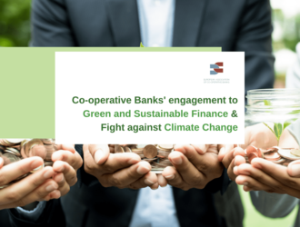 Co-operative banks' engagement to green and sustainable finance and fight against climate change