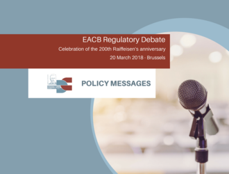 EACB Regulatory debate: Policy messages