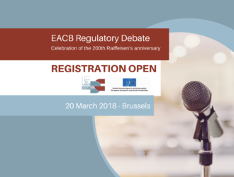 EACB Regulatory Debate - 20 March 2018, Brussels