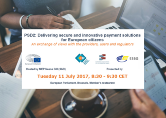 EP breakfast workshop -  PSD2: Delivering secure and innovative payment solutions