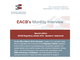 EACB Newsletter N°10 - Regulatory debate Speakers' statements