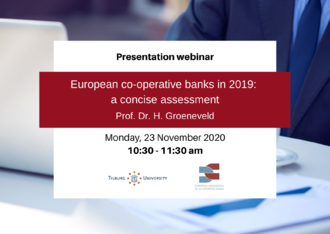 EACB webinar: European co-operative banks in 2019: a concise assessment