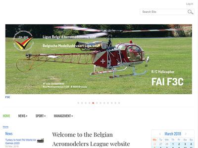 La Ligue Belge d'Aéromodélisme a enfin repris la gestion de son site