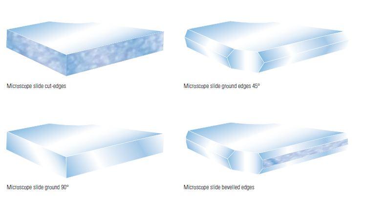 Microscope slides edges