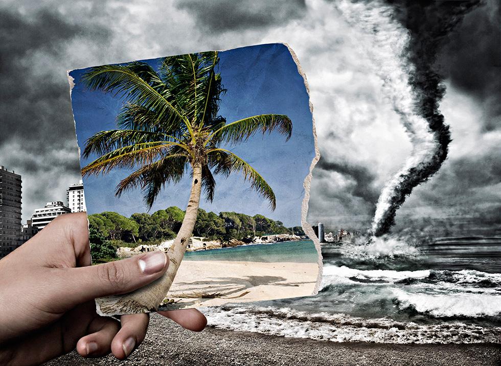 Montage photo et retouche - Série Réchauffement climatique - Glucône-R