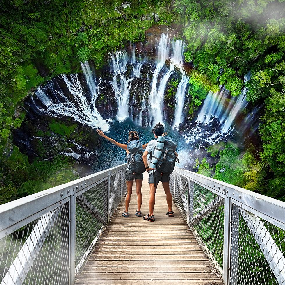 Manipulations créatives pour l'Ile de La Réunion Tourisme par Glucône-R