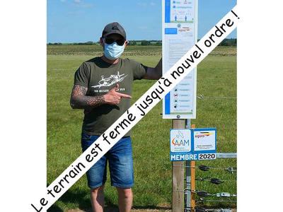 COVID-19 - Fermeture des terrains (28 octobre)