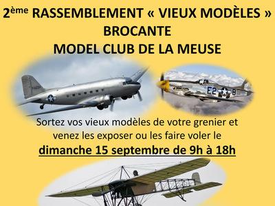 Rassemblement « Vieux modèles » + Brocante au Model Club de la Meuse