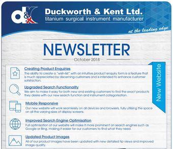 Focus Duckworth & Kent - Octobre