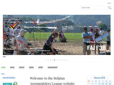 Peau neuve pour le site de la Ligue Belge d'Aéromodélisme