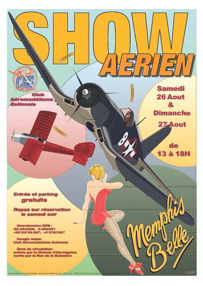 Show aérien au Club Aéromodélisme Estinnnois