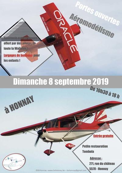 Portes Ouvertes aéromodélisme 2019 Blancs Volants d'Honnay